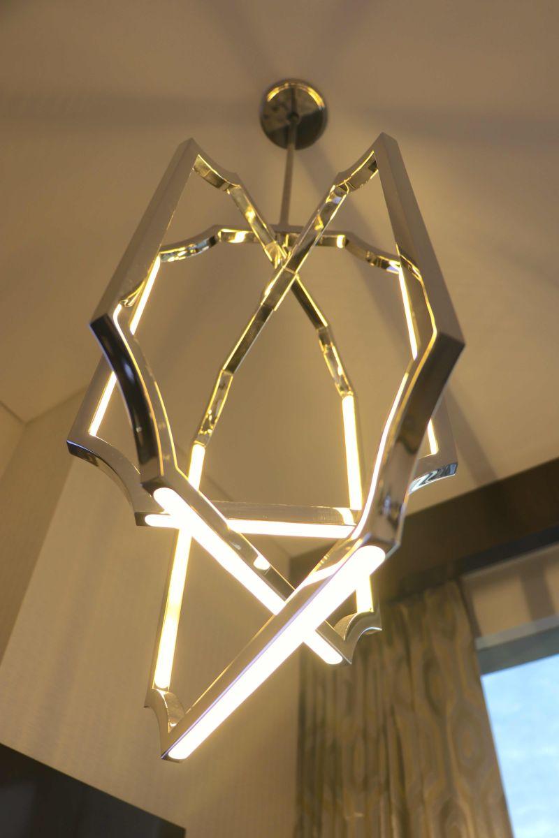glass chrome Pendant light